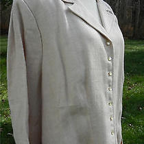 Ralph Lauren Blush Beige Ls Blazer Linen 3/4 Sleeve 22w Nwt Msrp 259 Photo