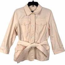 Ralph Lauren Blush Pink Linen Cotton Blend Blazer Jacket Women's Size L Large Photo