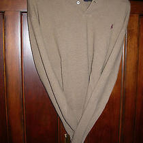 Ralph Lauren Brown & Cranberry Lambs Wool Pullover Lg Photo