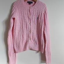 Ralph Lauren Cable Knit Cardigan Girls Sz 8-10 in Euc Photo