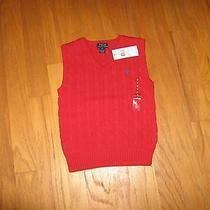 Ralph Lauren Cable Knit Vest Boys Size  6 Nwt  Photo