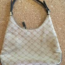 Ralph Lauren Canvas Beige Monogram - Shoulder Bag - Designer Handbag Hobo Photo
