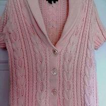 Ralph Lauren Cardigan Ss Blush Pink Sz. Med Euc Photo