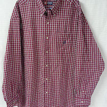Ralph Lauren Chaps Fuchsia Limegreen Plaid Button Men Shirt Size 5xb Gently Worn Photo