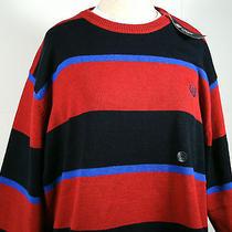 Ralph Lauren Chaps Mens Sweater 2xl Nwt Mens Red/blue Ls  Sz Xxl Big & Tall Euc Photo