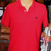 Ralph Lauren Chaps Shirt Red Short Sleeves Polo Shirt Blue Logo Size Small Photo