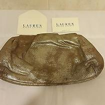 Ralph Lauren Collection Washed Leather Gold Clutch Photo