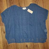 Ralph Lauren Denim & Supply Blue Short Sleeve Loose Knit Sweater Sz Large Nwt Photo