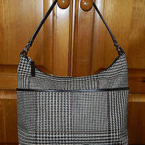 Ralph Lauren Fabric & Leather Hobo Shoulder Bag  Photo