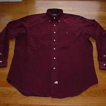 Ralph Lauren Garment Dyed Mens Shirt M Medium Polo Pony Logo Casual Dress Nice Photo