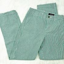Ralph Lauren Girls Pants Striped Green Size 12 100% Cotton Youth Photo