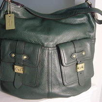 Ralph Lauren Governors Lodge Evergreen Large Shoulder Hobo Tote Bag Photo