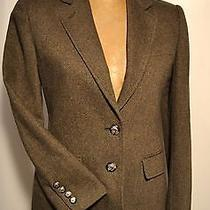 Ralph Lauren Green Lambs Wool Blazer 4p Womens Equestrian Jacket Photo