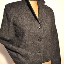 Ralph Lauren Heathered Charcoal Gray Wool English Riding Jacket 8p Photo