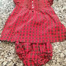 Ralph Lauren Holiday Dress With Matching Diaper Cover 12 Months Euc Photo
