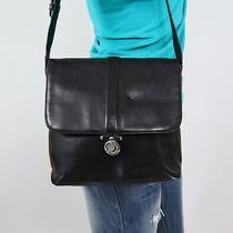 Ralph Lauren Medium Black Leather Shoulder Hobo Tote Satchel Purse Bag Photo