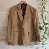 Ralph Lauren Mens Blazer Two Button Notch-Collar Faux Suede Sport Coat Tan 44r Photo