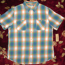 Ralph Lauren Mens Denim & Supply Shirt Size Medium M Authentic Orange Button Up Photo