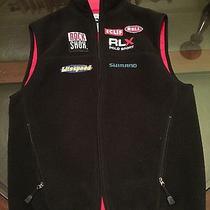 Ralph Lauren Mens Rlx Mountain Bike Team Rock Shox Fleece Vest Size Small Black Photo
