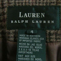 Ralph Lauren Multicolor Plaid Blazer Euc Wool Sz 4 Horse Buttons Equestrian Photo