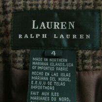 Ralph Lauren Multicolor Plaid Blazer Euc Wool Sz 4 Horse Buttons Equestrian Photo