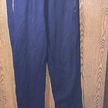 Ralph Lauren Navy Blue Jogger Pant Sweatpants Zip Ankles & Zip Pockets  Sz L Photo