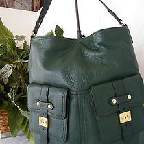 Ralph Lauren New Green Leather Governors Lodge Hobo Photo