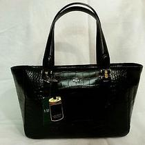 Ralph Lauren New With Tags Lanesborough Shopper Tote Black Croc Photo