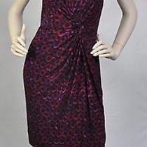 Ralph Lauren Nwt Black Printed Knot Front Knee Length Wear to Work Dress Sz 8p Photo