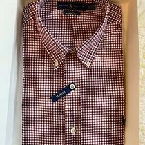 Ralph Lauren Oxford Classic Fit Stretc Men's L/s Button Down Shirt Plaid Size L Photo