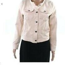 Ralph Lauren Pink Leather Blush Trucker Jacket 6 Photo