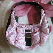 Ralph Lauren Pink Nylon Hobo Washable Purse Photo