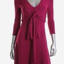 Ralph Lauren Pink Ponte v-Neck 3/4 Sleeves Wear to Work Dress Petites 14 Photo