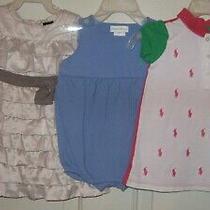 Ralph Lauren Polo Baby Gap Lot 3 Romper Dress 6-12 6 Mos Tiered Dresses Photo