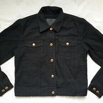 Ralph Lauren Polo Jeans Co. Small Black Jean Jacket Women's Gold Buttons  Photo