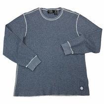 Ralph Lauren Polo Jeans Men's Size Xl Thermal Pullover Sweatshirt Blue Crewneck Photo