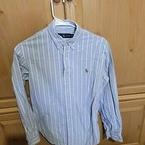 Ralph Lauren Polo Long Sleeve Button Down Red White Blue Striped Photo