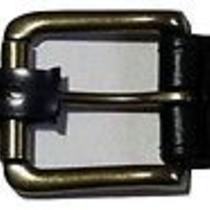 Ralph Lauren Polo Men's Black Leather Belt Brass Plate  40 Nwt New Photo