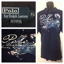 Ralph Lauren Polo Ss Navy Blue Graphic Polo Xl Photo
