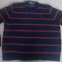 Ralph Lauren Polo Striped Lambs Wool Sweater - Mens Size Xl Photo