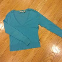 Ralph Lauren Polo Womens Large Aqua Sweater  Photo