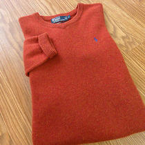 Ralph Lauren Polo100% Lambs Wool v Neck Sweater Size Large Photo
