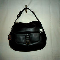 Ralph Lauren Rafferty Smooth Hobo Black Nwt Photo