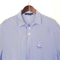 Ralph Lauren Rlx Blue Striped Trump National Golf Club Polo Shirt Size Xl Photo