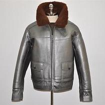 Ralph Lauren Rlx Full Shearling Fur Leather Bomber Jacket Xl Photo