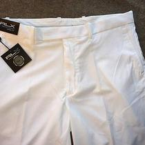 Ralph Lauren Rlx Golf Pants Sz 34-32 Flat Front White Nwt Stretch & Recovery New Photo