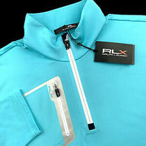Ralph Lauren Rlx Golf Performance Stretch Quarter Zip Sweater Blue Sizes L-2xl Photo