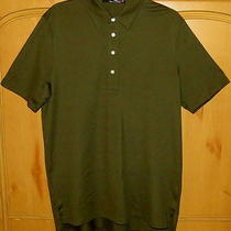 Ralph Lauren Rlx Men's Olive Green Polo Shirt-Sz M-Euc Photo