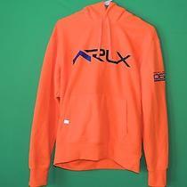 Ralph Lauren Rlx Men's Size M Medium Orange Championship Series Hooded Sweater Photo
