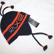 Ralph Lauren Rlx Mens Navy Blue 100% Wool Rlx Logo Snow Cap Hat  Nwt 88  S/m Photo